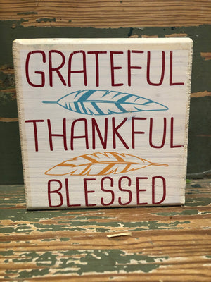 Handmade Décor- Grateful, Thankful, Blessed