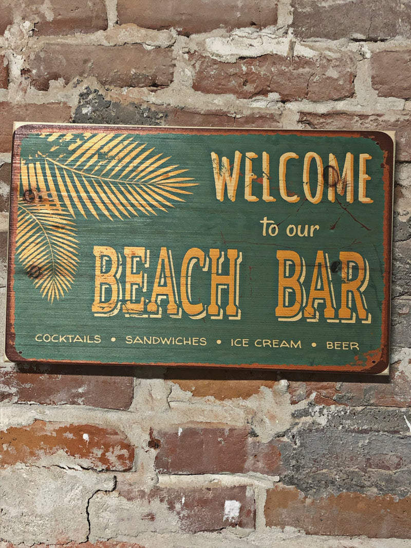 UV Color Handmade Decor-Welcome to our Beach Bar