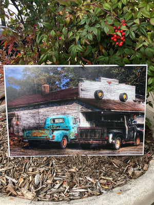 Metal UV Printed Sign- Vintage Truck Garage