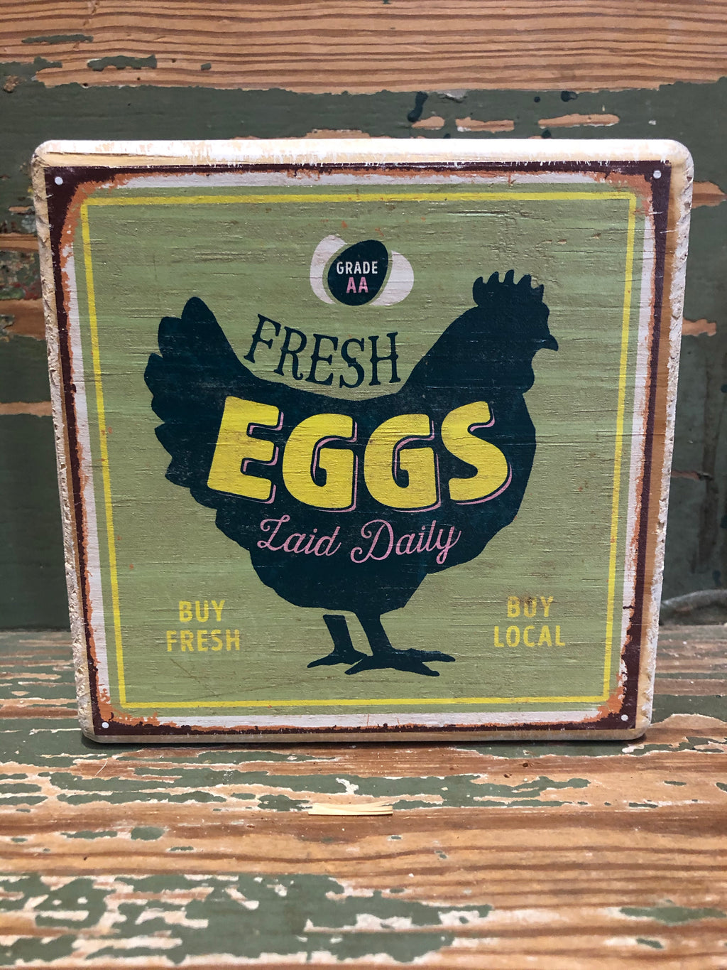 Handmade Décor- Fresh Eggs Green