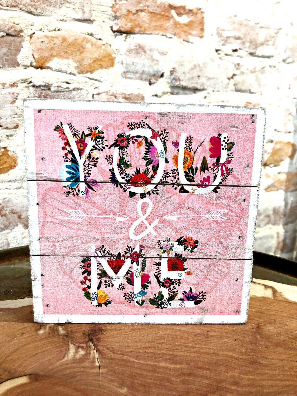 UV Color Printed Decor- You & Me- Pink Floral