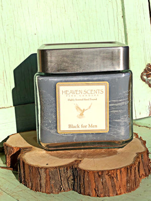 24 oz Candle- Black for Men Scent