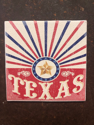 Canvas Magnet-TEXAS Red Lone Star