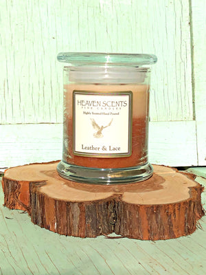 10 oz Candle- Leather & Lace Scent