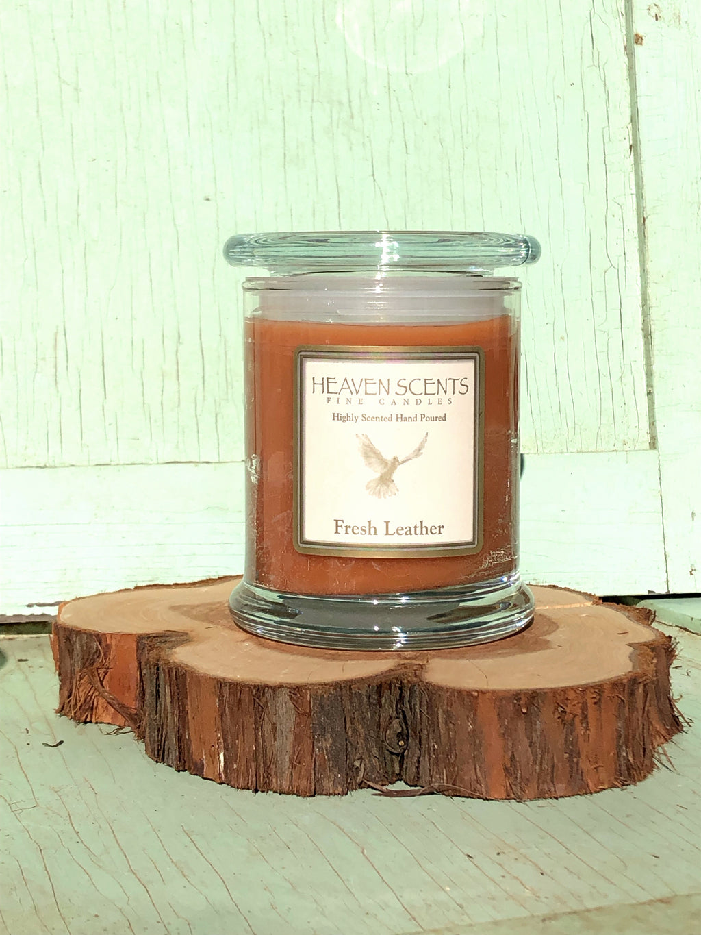 10 oz Candle- Leather Scent
