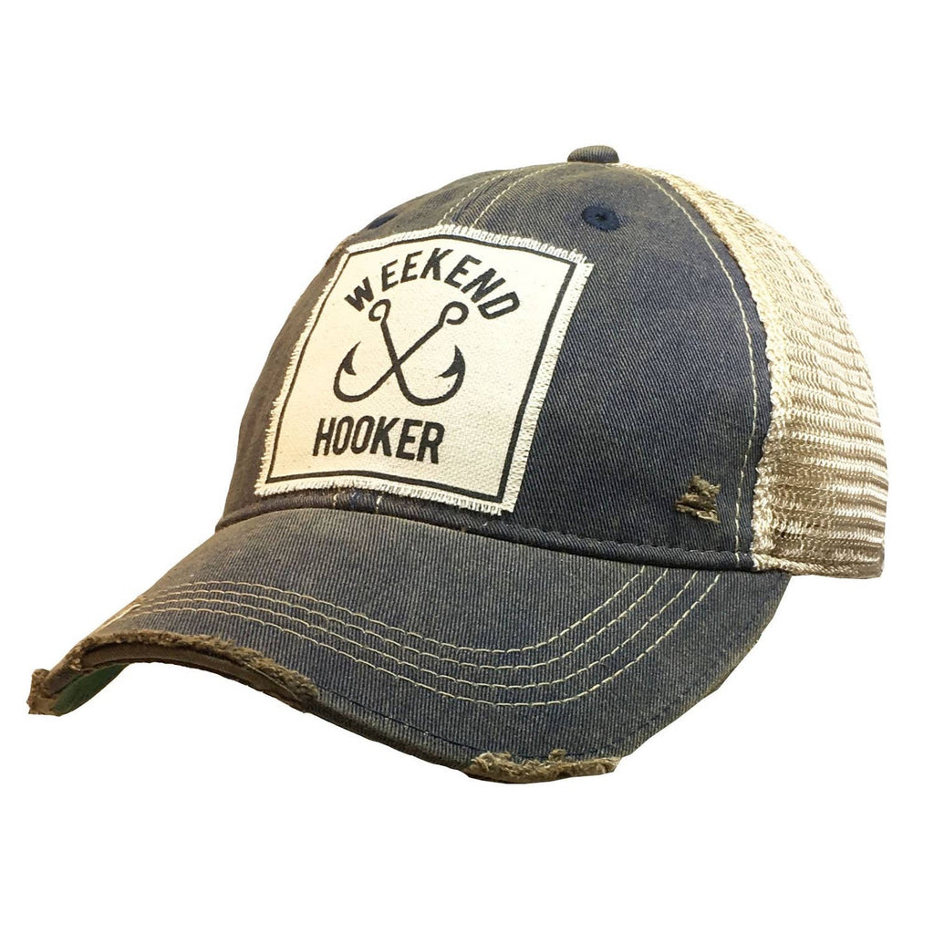 Weekend Hooker Distressed Trucker Cap