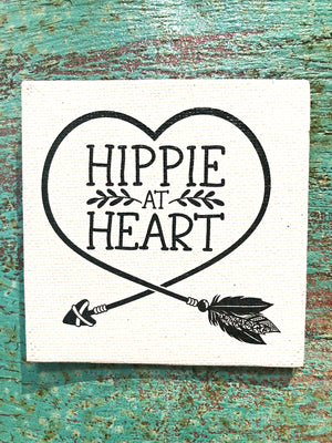 Canvas Magnet-Hippie at Heart