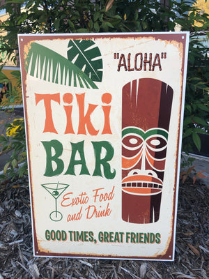 Metal UV Printed Sign- Aloha Tiki Bar