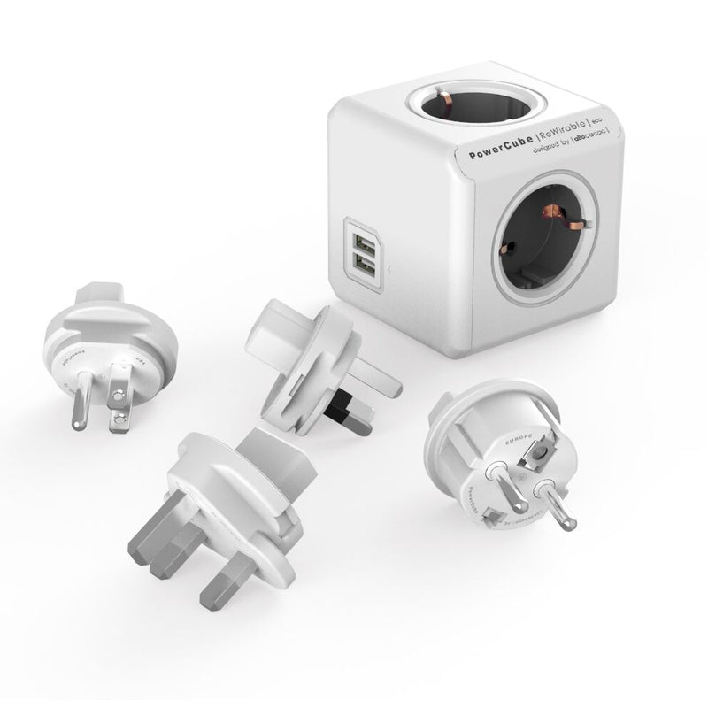 PowerCube Rewirable USB - 4 udtag - incl. Adapter