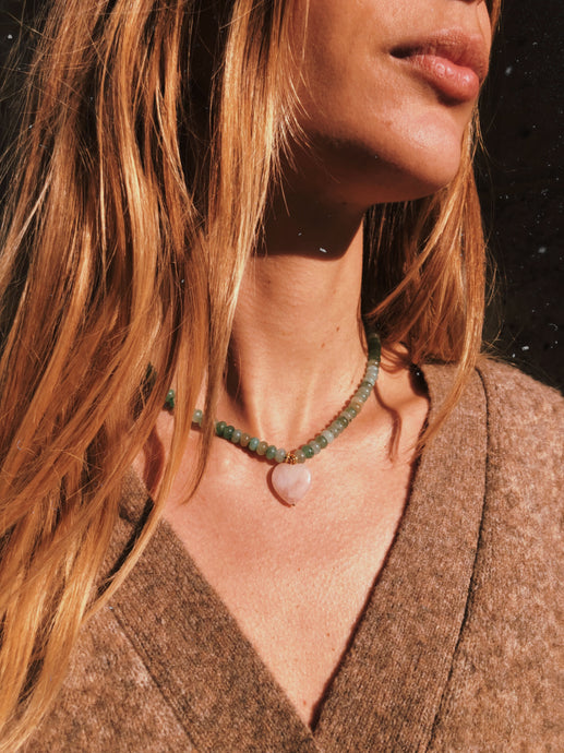 True For Love Aventurine Necklace