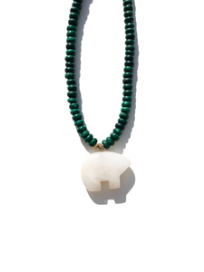 Feeling Fearless Malachite Necklace
