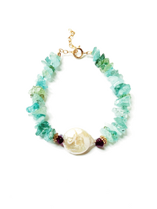 Pearl For Soul Aigue-Marine Bracelet