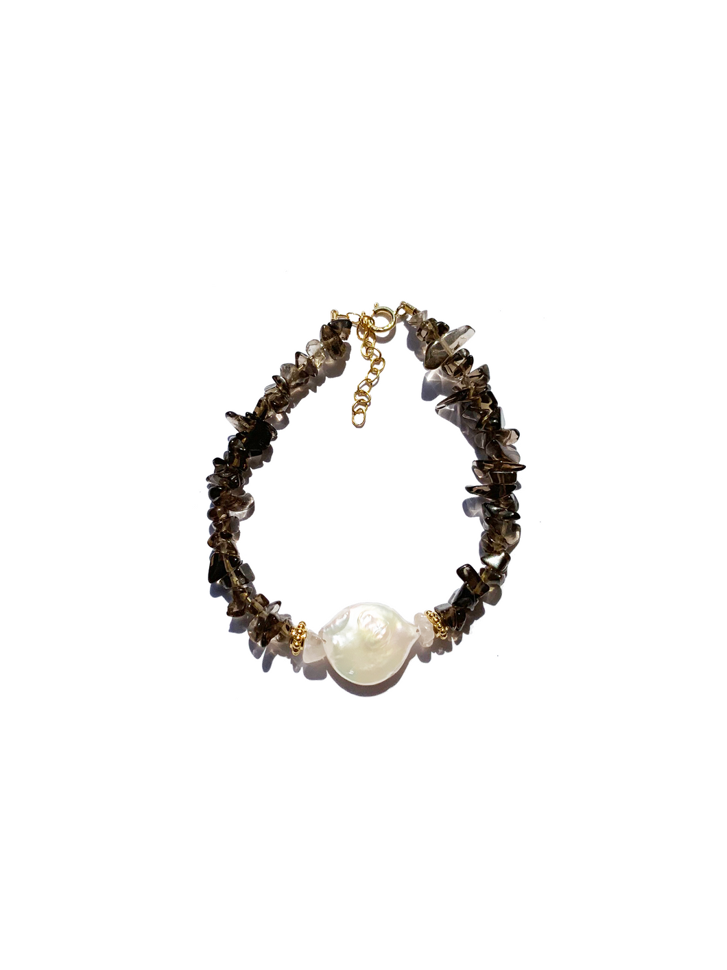 Pearl For Soul Quartz Fumé Bracelet