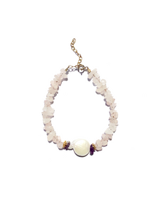 Pearl For Soul Quartz Rose Bracelet
