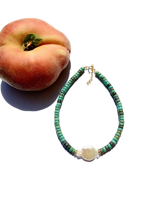 Pearl For Soul Turquoise Verte Anklet