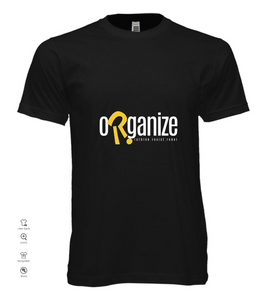 organize black t-shirt