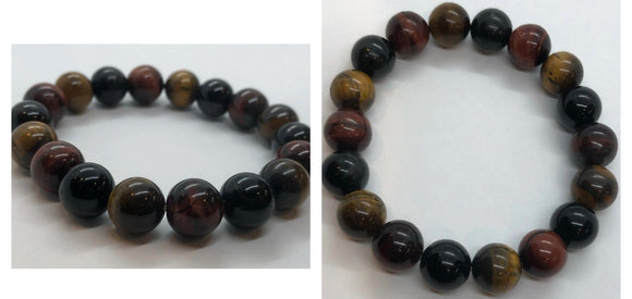 Mixed Tiger's Eye Crystal Beaded Bracelet