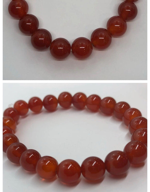 Red Agate Crystal Beaded Bracelet