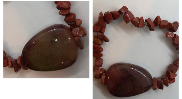 Red Jasper and Agate Bracelet