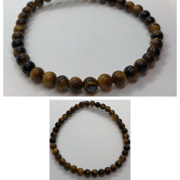 Tiger's Eye Crystal Beaded Bracelet