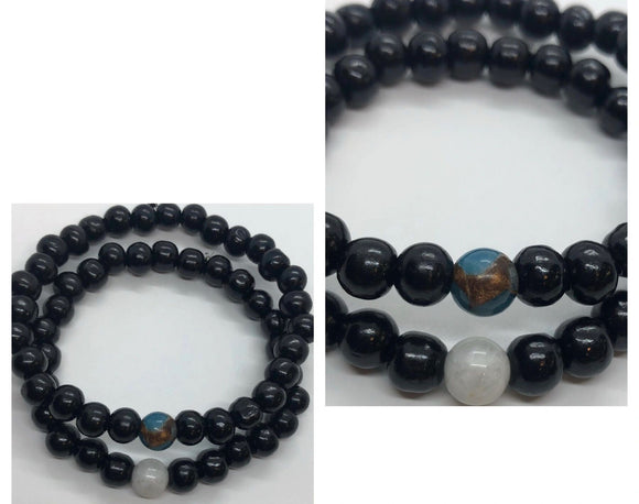 Soulmates Bracelets Set (Set of 2) - Earth and Moon
