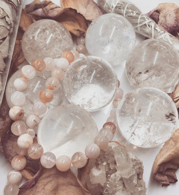 Small Clear Quartz Crystal Sphere Balls
