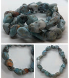 Larimar Crystal Beaded Bracelets