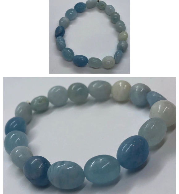 Celestite Crystal Beaded Bracelet