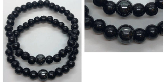 Soulmate Bracelets Set (Set of 2) - Black Hematite