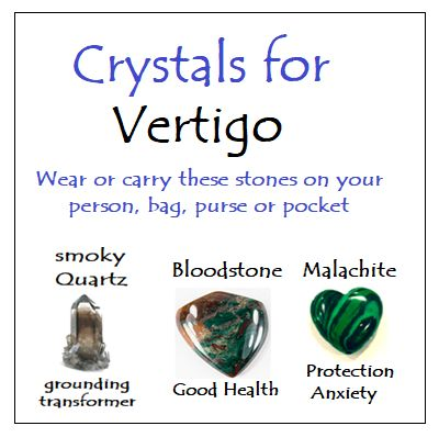 Crystals for Vertigo