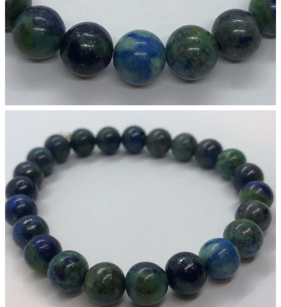 Lapis Chrysocolla Crystal Beaded Bracelet