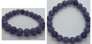 Lepidolite Crystal Beaded Beads Bracelet