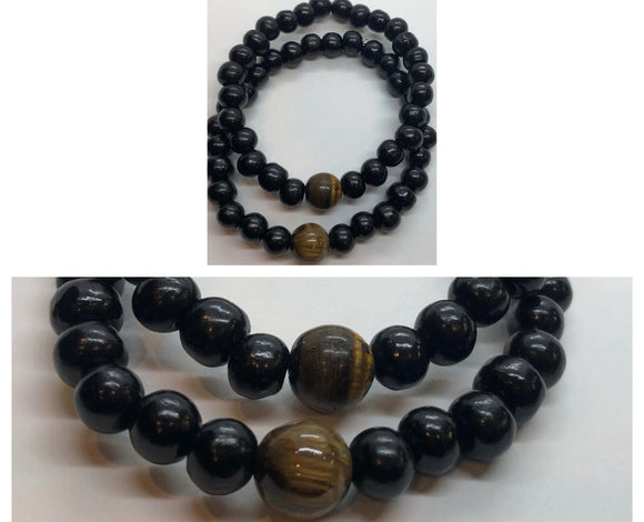 Soulmates Bracelet Set (Set of 2) - Tiger's Eye