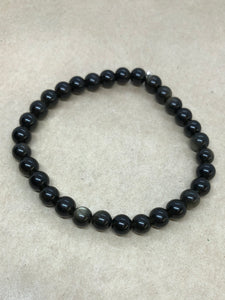Gold Obsidian Crystal Beaded Bracelet