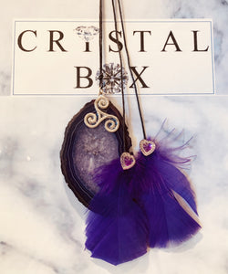 Purple Agate Suncatcher