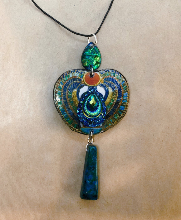 Handmade Scarab Necklace