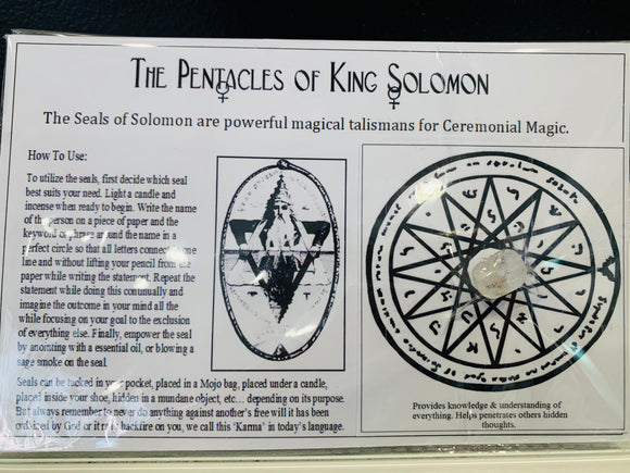 King Solomon Seal for Clarity on a Situation