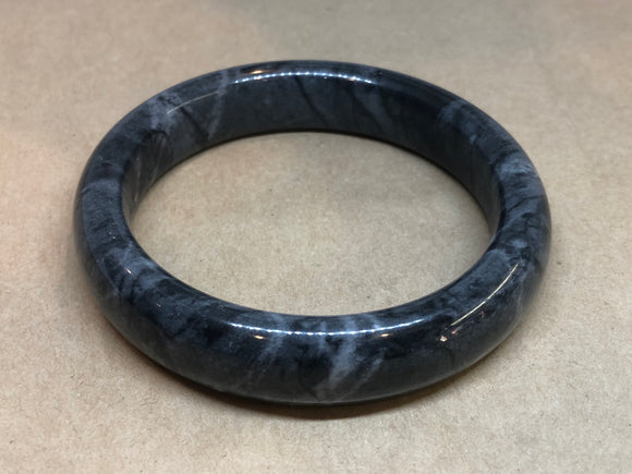 Grey Jade Crystal Bangle