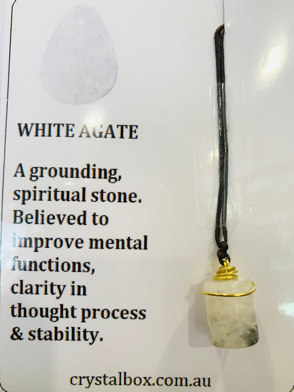 White Agate Necklace 2