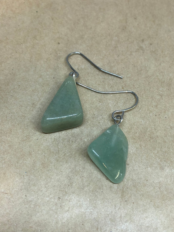 Green Aventurine Crystal Earrings