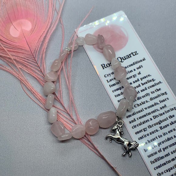 Rose Quartz Unicorn Bracelet