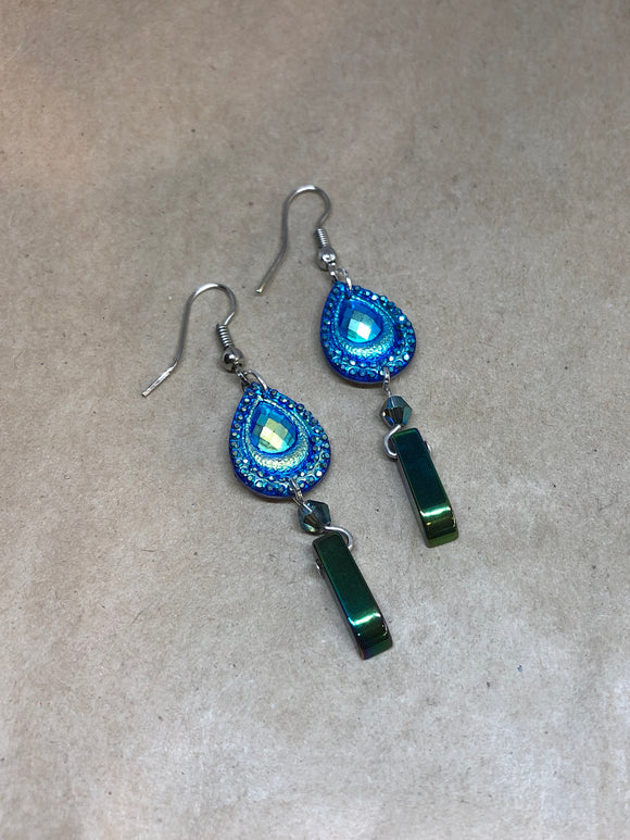 Green Hematite Earrings