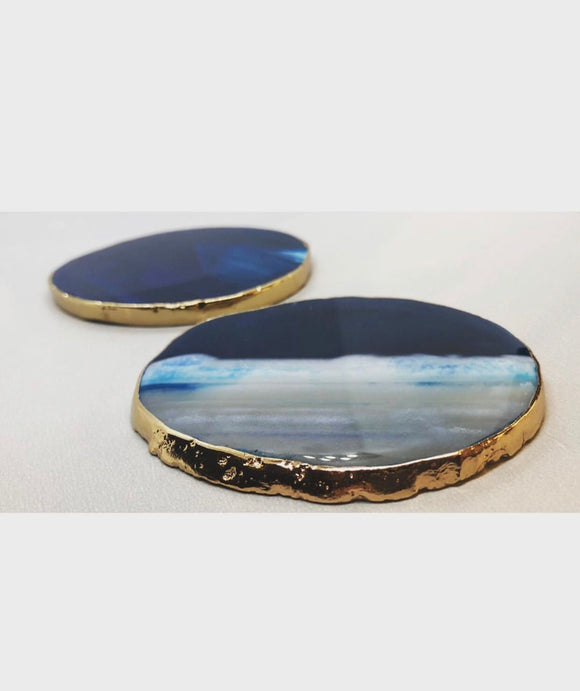 Blue Agate Slice Coaster