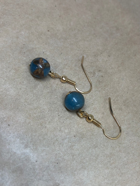 Blue Jasper Crystal Earrings