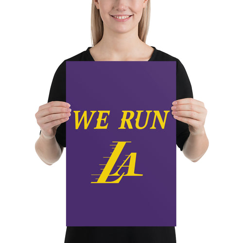We Run LA Lakers poster