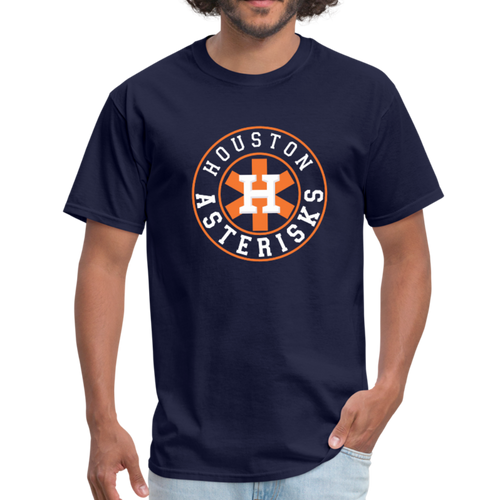 Houston Asterisks shirt cheaters - navy