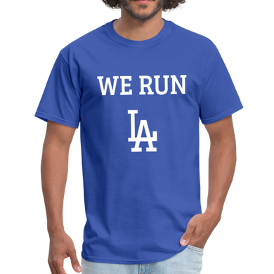 We Run LA - Baseball Blue Unisex T-Shirt - royal blue