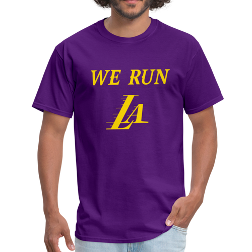 We Run LA - Basketball Purple Unisex T-Shirt - purple