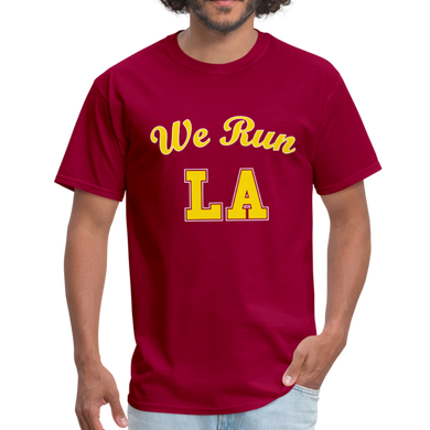 We Run LA - College Red Unisex T-Shirt - dark red
