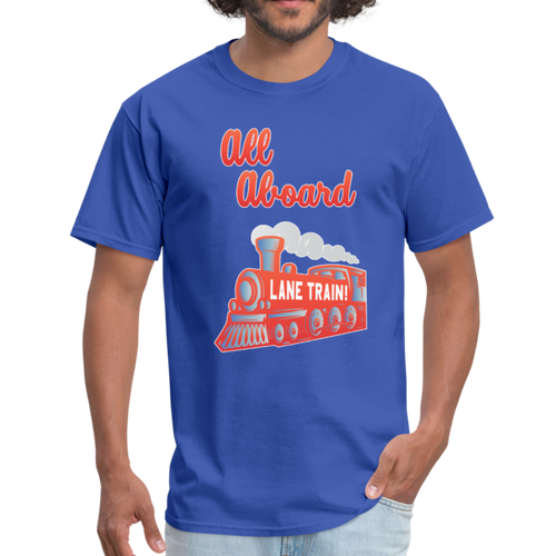 Lane Train Ole Miss All Aboard Unisex T-Shirt - royal blue